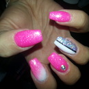 fuchsia nails