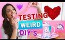 TESTING weird edible DIY's   V-DAY Edition!