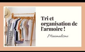 Tri et organisation de la garde-robe   minimalisme