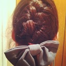 French Braid With Big Bow