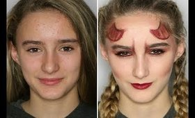 Devil Makeup Tutorial   Halloween   Primp Powder Pout