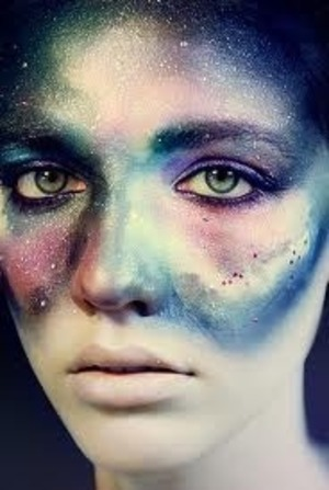 Ben Nye theater makeup sparkles and war paint liquid eyeliner in a sparkly black