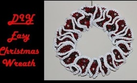 How To Crochet For Beginners: Easy Christmas Wreath