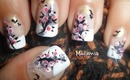 Blooming Trees Nail art design inspired by Iuli's Nails Art Design