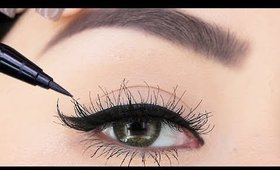 How to Apply Eyeliner with Long Eyelashes | EVERYTHING beginners need to PERFECT Liner