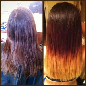 First attempt at an Ombre on my sister