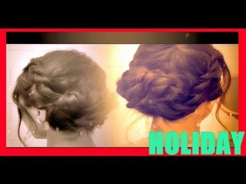 ☆ HOLIDAY HAIRSTYLES: HOW TO FRENCH TWIST ROPE BRAID UPDO HAIR