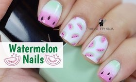 Watermelon Nail Art Tutorial by The Crafty Ninja