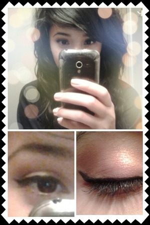 smokish eye in pearly white and dark brown with a little gold