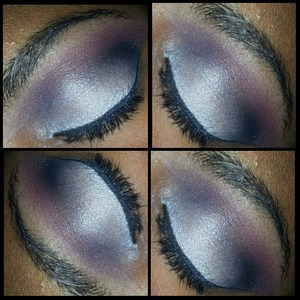 Look using the coastal scents 120 5th edition palette. Instagram: kinkyhaireddevil