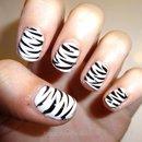 Zebra Nails! (: