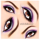 Purble sparkle eye makeup