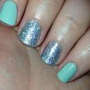 Glittery nails!