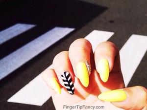DETAILS HERE:  http://fingertipfancy.com/yellow-crosswalk-nails
