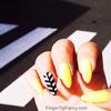 Yellow crosswalk nails