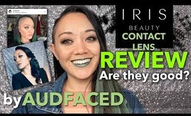 IRIS BEAUTY Contact Lens Review + Discount Code! | AUDFACED