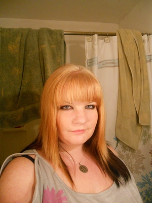 The front! I'm BLOND[kind of] again! 8D