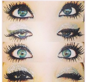 I <3 this eye look ! If anyone knows of products I could use to recreate the look please let me know !!