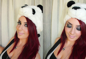 Panda! For a child's birthday party. I was the face painter. Lol :P