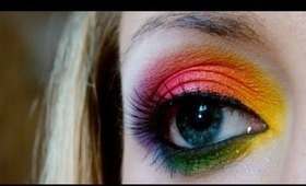 Rainbow Makeup Tutorial: Collaboration with SimpleLittlePleasues