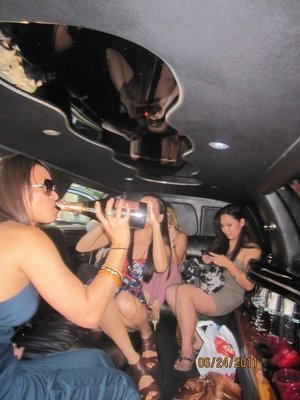 Summer limo trip to Napa for gf's bday: attire = summer dresses to work on tanning those pasty white legs!