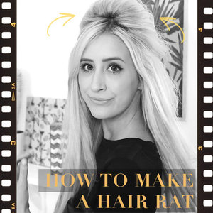 I've used a hair rat volumizer to create this gorgeous hair bouffant! Find out how to make one of your own here: http://bit.ly/1r4N2PN