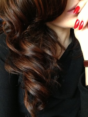 Shatush and wave curls ❤