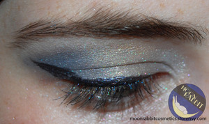A look I did with the birthday collection from Moon Rabbit Cosmetics. 