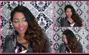 TUTORIAL: Sultry Side Swept Holiday Curls Using A $10 Curling Iron