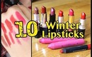Top 10 winter lipsticks & GIVEAWAY