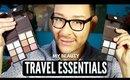 Must Have Travel Essential Eyeshadow Palettes & Makeup Brushes | mathias4makeup