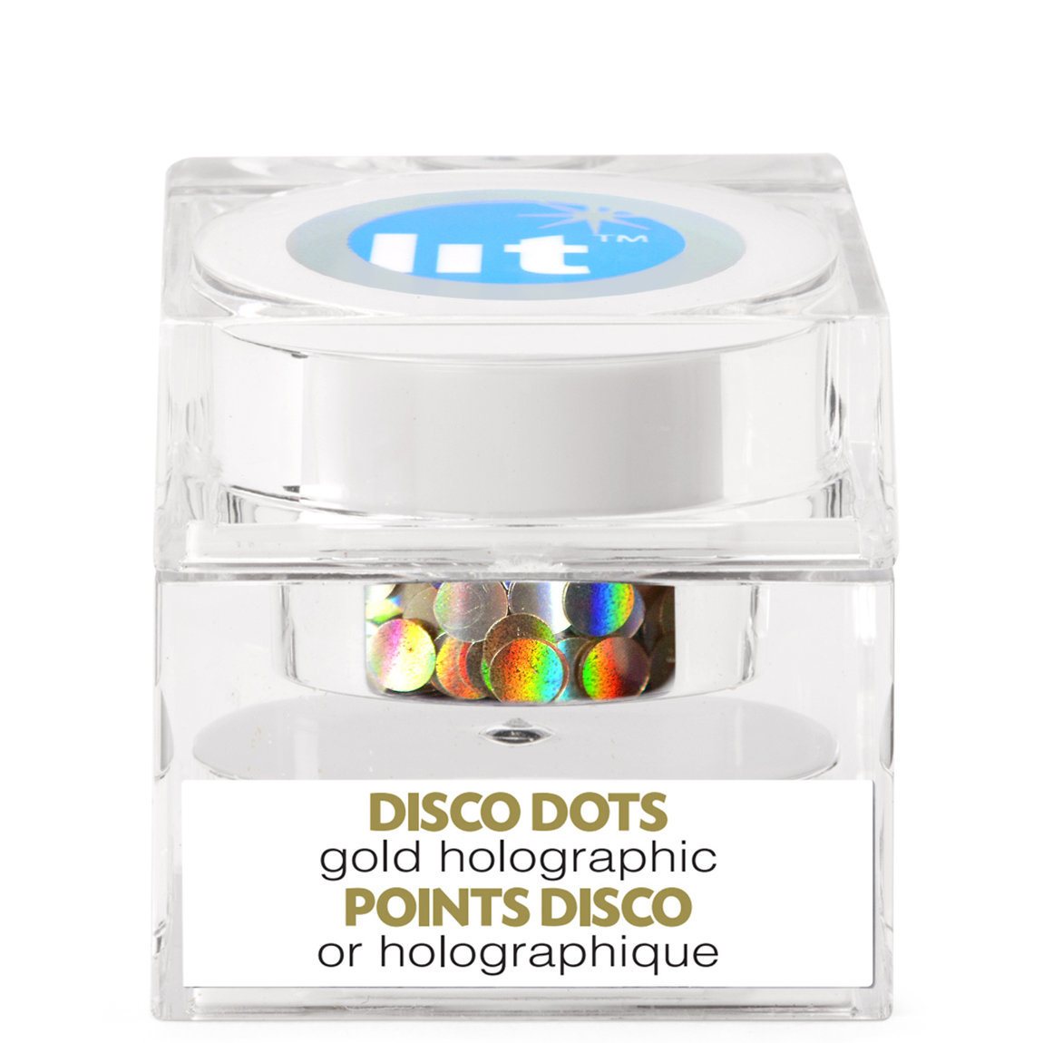 Lit Cosmetics Holographic Glitter Pigment Disco Dots Gold S3 alternative view 1 - product swatch.