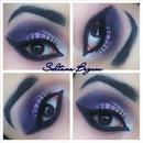 Purple smokey eyes.