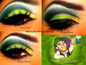 St.Patricks day makeup