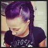 Purple Fish Mohawk Braid