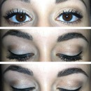 Natural look with liquid eyeliner