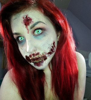 Another zombie look, but on myself. Check out my page :D https://www.facebook.com/pages/Emilyguysfx/169544763169171?ref=hl