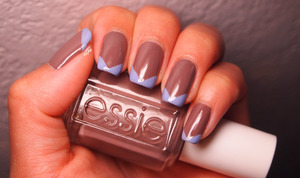 http://www.drinkcitra.com/2013/10/chevron-tips-guest-post.html Essie Don't Sweater it and OPI You're Such A Budapest
