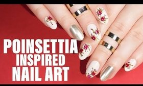 POINSETTIA INSPIRED HOLIDAY NAIL ART