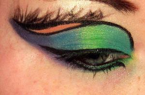 Peacock Inspired Look:) Idea from Vintage or Tacky