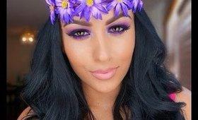 GRWM -purple smokey eye - Using Amrezy Palette |MakeupbyIRMITA