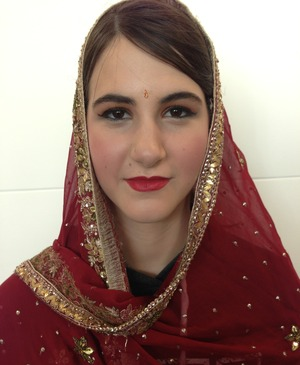 My first go at doing Indian style bridal makeup.