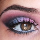 Fun Pink&Blue Eye Look !