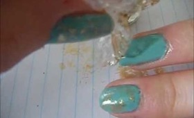 Plastic wrap nails tutorial