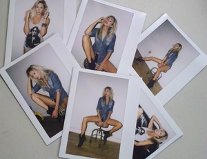 polaroids from the shoot w/ lauren photographer marcus hyde hair + makeup kelley farlow
