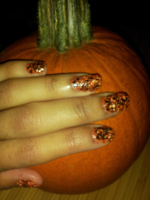 Halloween dots nail color...use maybelline color show polka dots in (DOTTY 59)!!