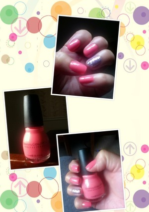 """The nail polish is in the Color """"Island Coral """""""