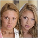 New before-after, makeup and hair by me!