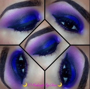 💄Eyes-NYX Jumbo pencil IN MILK  Electric blue is By Nars(OutRemer) Black, pink and highlight brow bone was achieved by Using the colors from my Beauty Mark cosmetics
