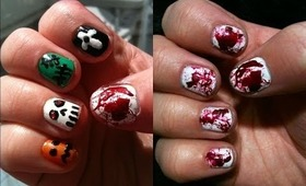 NAV   Halloween Nail Art Tutorial